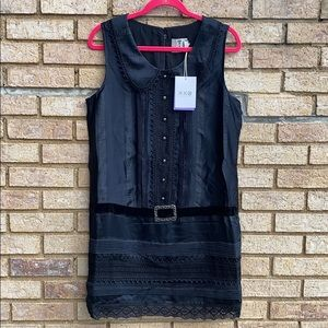 NWT ANNA SUI FOR TAGERT BLACK SLEEVELESS DRESS